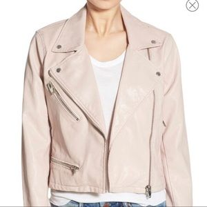 Blank NYC light pink biker jacket